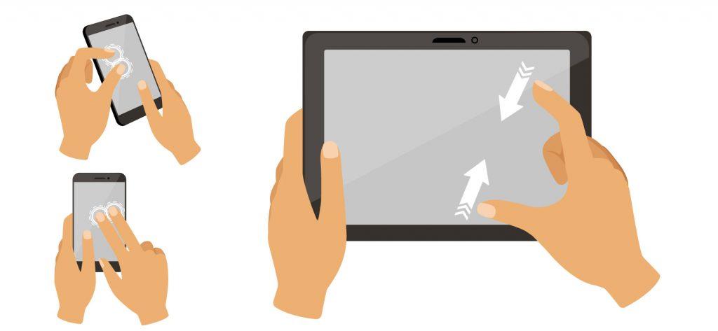"""Lo standard multi-touch si è imposto """"de facto"""" sugli smartphone e i tablet. Basti pensare alla facilità con cui allarghiamo una foto per ingrandirne un dettaglio, o come pretendiamo di andare a leggere meglio una mappa toccando due volte in rapida sequenza l'area che ci interessa"""