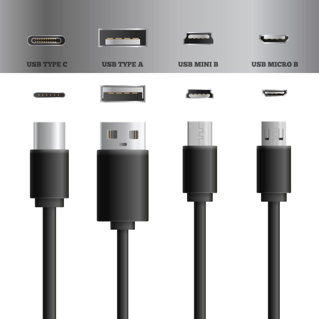 Tipologie di connettori USB: Type C, Type A, Mini B, Micro B